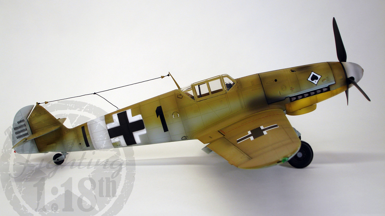"Messerschmitt BF-109G2 Trop ""Black 1"" | The Fighting 1:18th"
