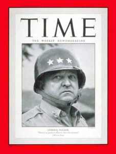 General Walton H. Walker on a cover of Time Magazine