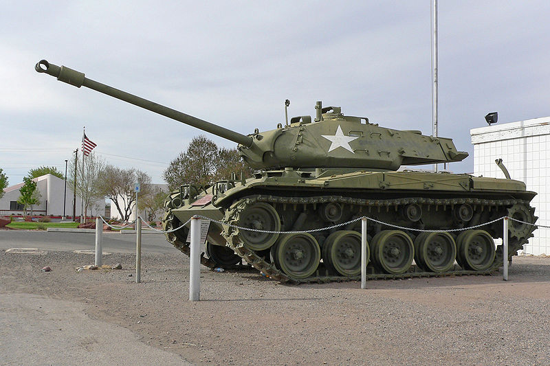 M41 Walker Bulldog on display in front of the VFW post, Overton ...