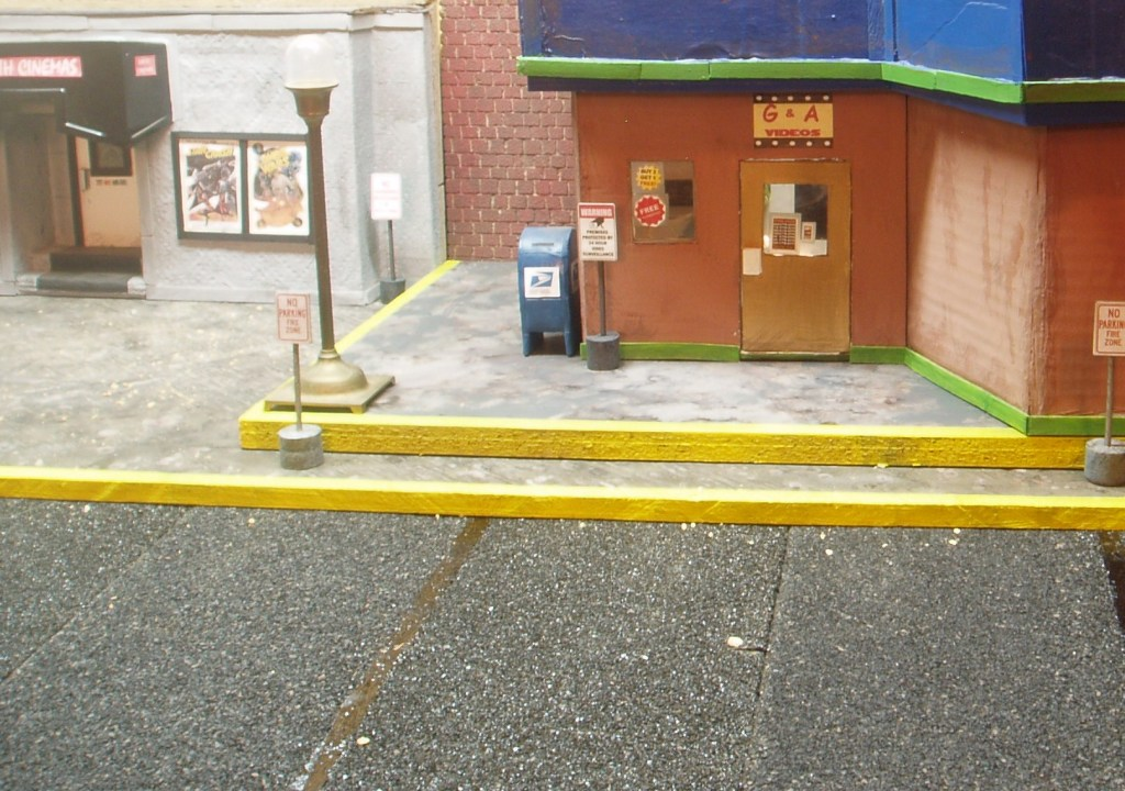 Diorama: Video Store and Theater