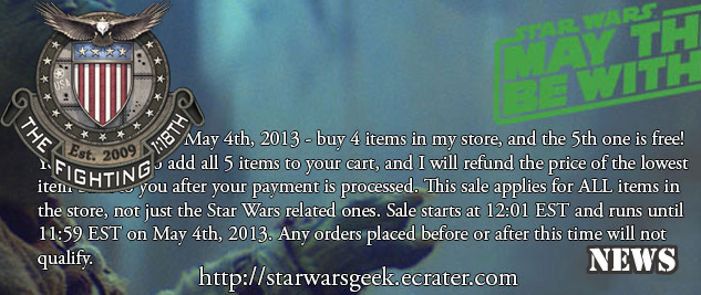 Starwarsgeek.ecrater.com SALE!!!!