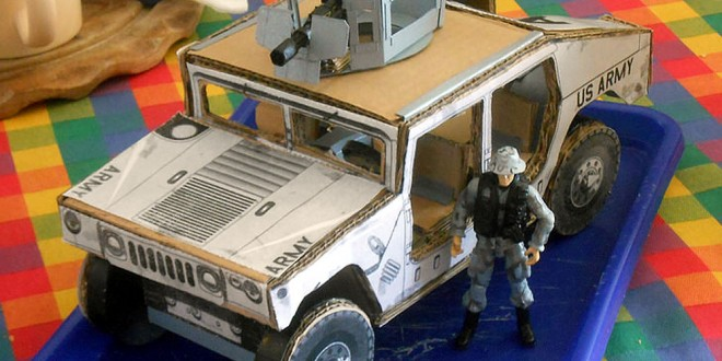 Cardboard Humvee by Hunmarine